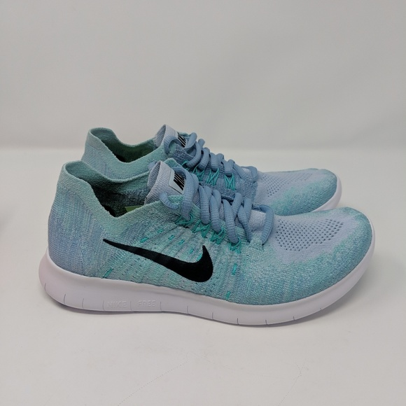 info for 18712 83366 Nike Free RN Flyknit 2017 Womens 880844-402 Blue NWT